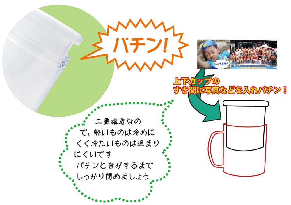 簡単オリジナルマグカップ制作 ぱっくんマグ